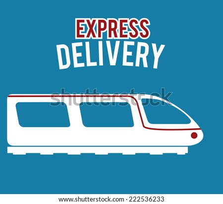 Delivery design over blue background, vector illustration - stock vector