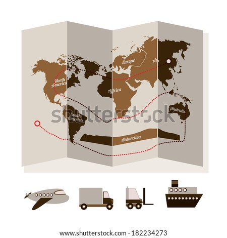 delivery design over  white background vector illustration - stock vector