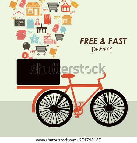 Delivery  design over white background, vector illustration - stock vector