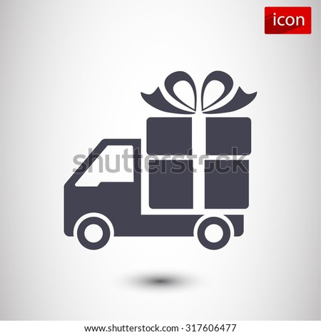 Delivery gift . icon. Vector  Eps 10 - stock vector