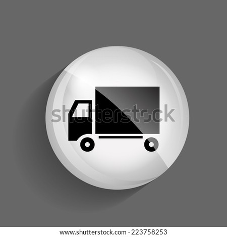 Delivery  Glossy Icon Vector Illustration EPS10 - stock vector