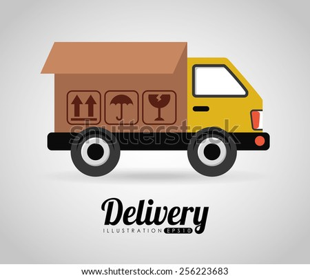 delivery icon design, vector illustration eps10 graphic  - stock vector