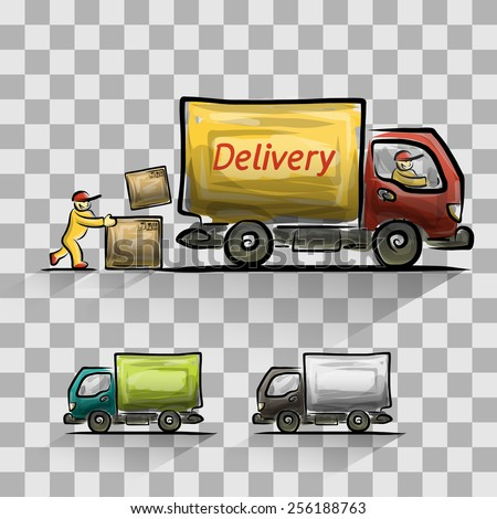 Delivery isolated set, vector illustration for your design, eps10 5 layers - stock vector