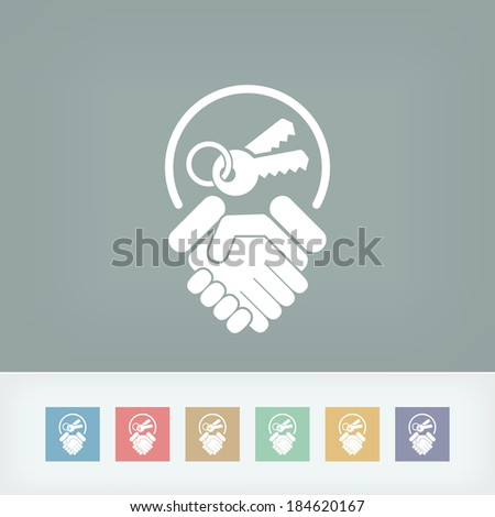 Delivery of the keys - stock vector