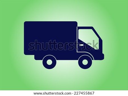 delivery sign - stock vector