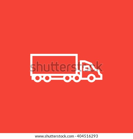 Delivery truck line icon. - stock vector