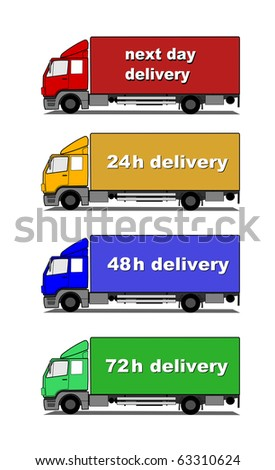 Delivery trucks vector - stock vector