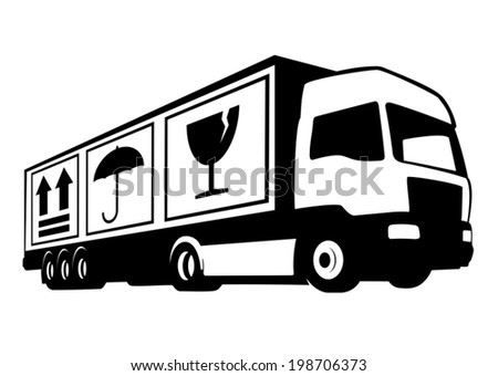 Delivery with care - stock vector
