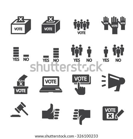 democracy icon - stock vector