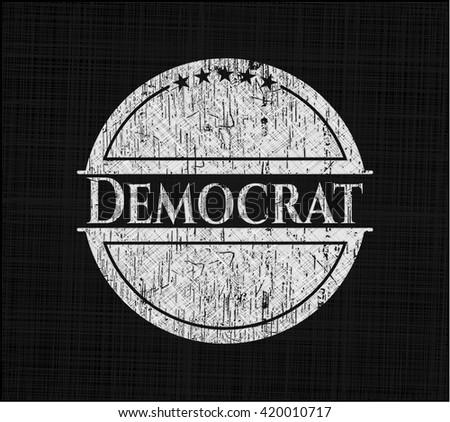Democrat chalk emblem - stock vector