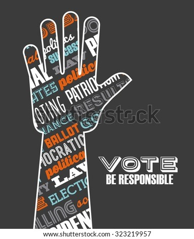 democratic election design, vector illustration eps10 graphic  - stock vector