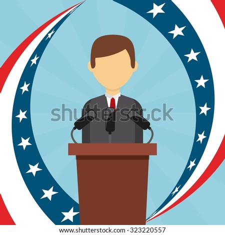 democratic election design, vector illustration eps10 graphic  - stock vector