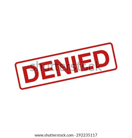 Denied rubber stamp seal flat icon - stock vector