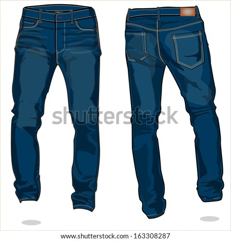 denim 1 - stock vector