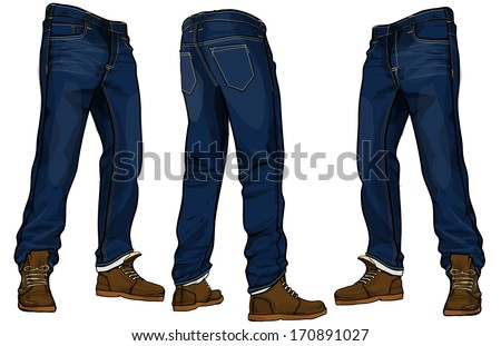 denim apparels - stock vector