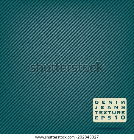 Denim jeans fabric texture - stock vector