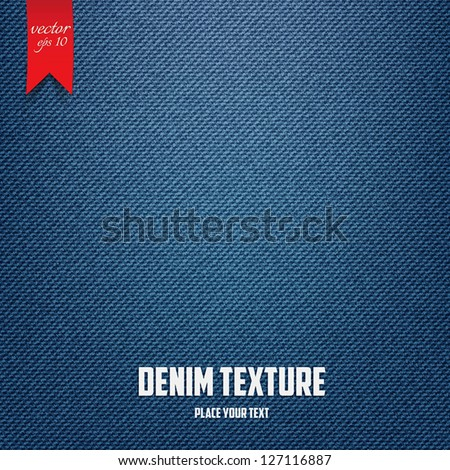 Denim  jeans texture pattern. Vector - stock vector