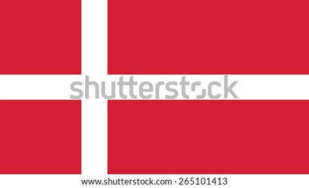 denmark Flag for Independence Day and infographic Vector illustration. - stock vector