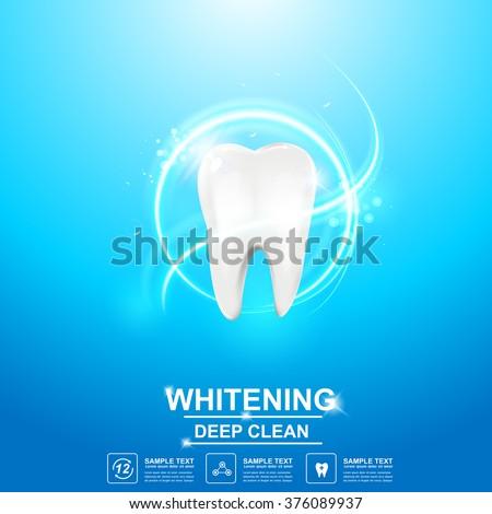 Dental care Tooth Icon vector Concept. - stock vector