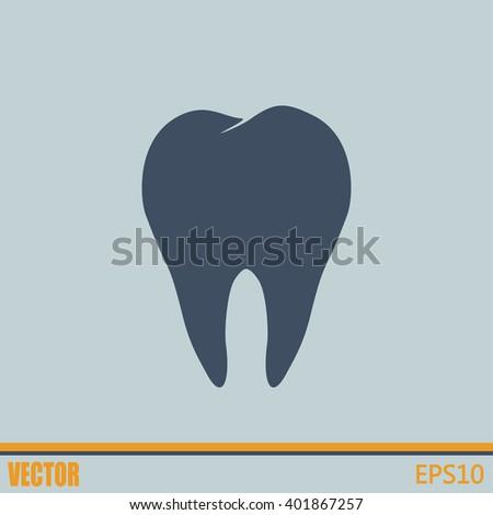 Dental clinic vector icon. Tooth icon - stock vector