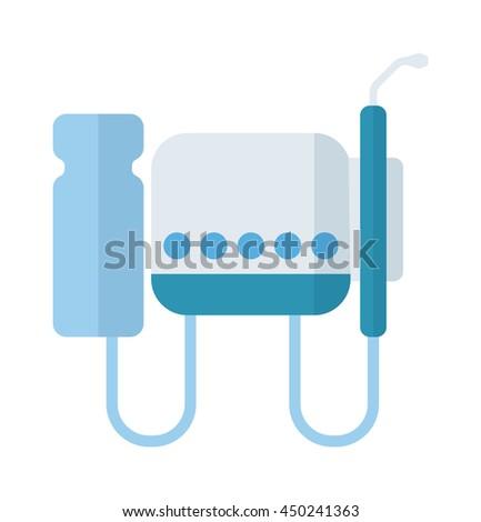 Dental equipment vector illustration dentist medical tool. Treatment hygiene clinic health care dental equipment. Surgery professional instrument dental equipment orthodontic cure accessory. - stock vector