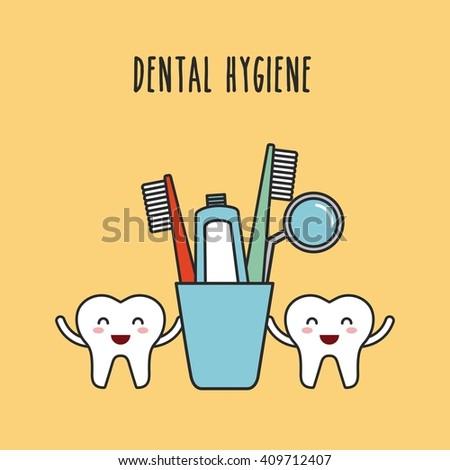 dental hygiene design  - stock vector