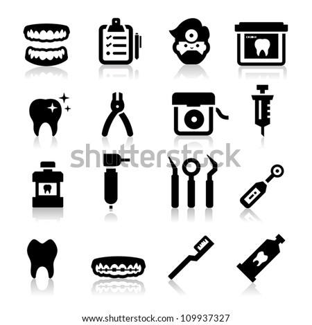 Dental Icons - stock vector