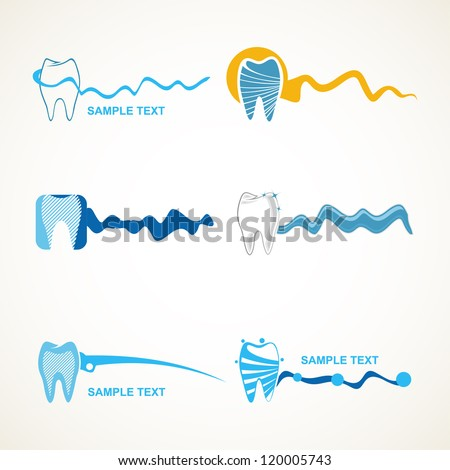 Dental icons. - stock vector