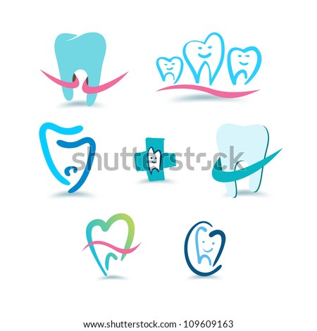 Dental icons. Stomatology. - stock vector