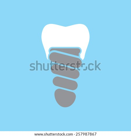Dental implant vector icon - stock vector