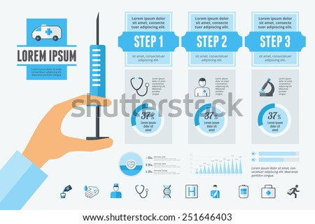 Dental Infographic Elements. - stock vector