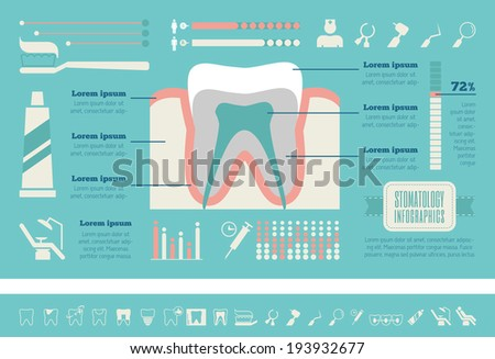 Dental Infographic Template. - stock vector