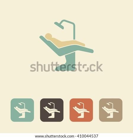 Dental symbol. Vector illustration dental chair icon - stock vector