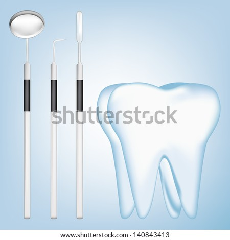 dental tools. eps10 vector illustration - stock vector