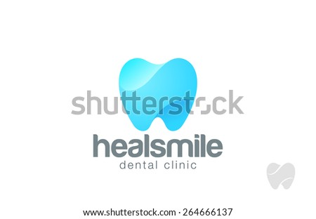 Dentist Logo tooth shape design vector template. Dental Clinic Logotype concept. Implant icon. - stock vector