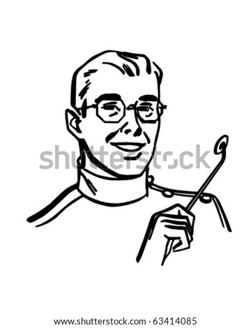 Dentist - Retro Clipart Illustration - stock vector