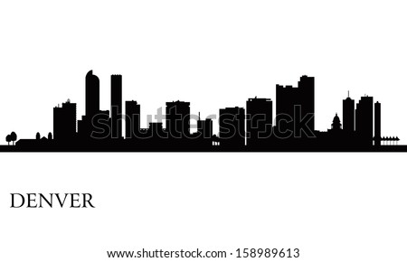 Denver city skyline silhouette background. Vector illustration - stock vector