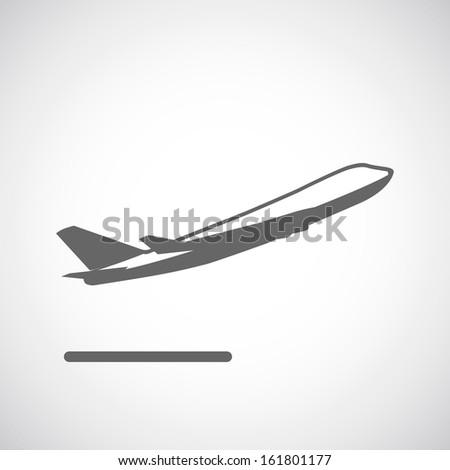Departure icon - stock vector