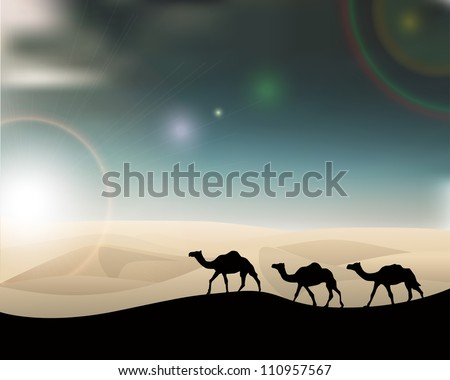 Desert background eps10 - stock vector
