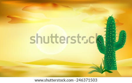desert baclground vector illlustration - stock vector