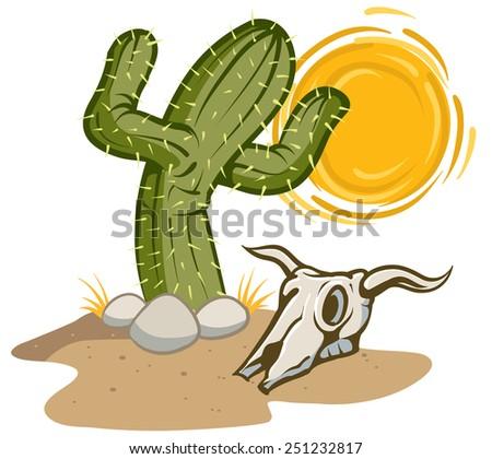Desert Cactus - stock vector