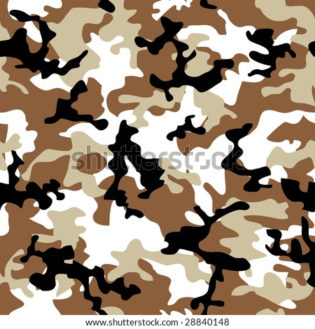 Desert camouflage abstract seamless background in shades of brown - stock vector