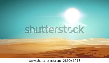 Desert illustration - stock vector