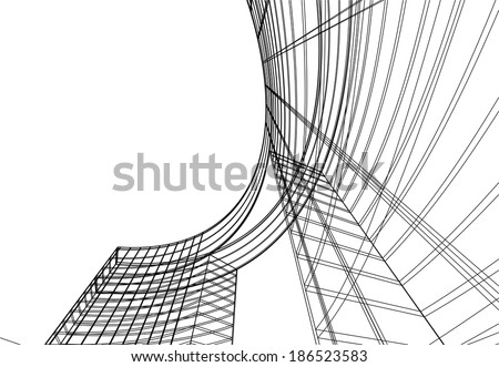 design architecture vector abstract background - stock vector