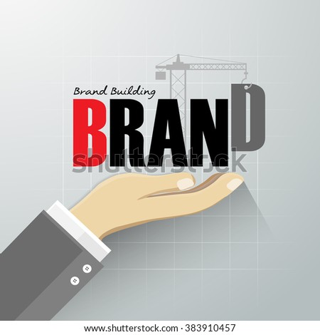 Design brand building concept, vector illustration. - stock vector
