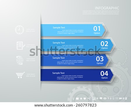 Design clean template. Can be used for workflow layout, banner, diagram, web design, infographic Vector Eps10 - stock vector