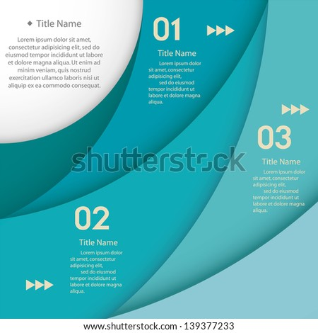 Design clean template/graphic or website layout. Vector. Green color. - stock vector