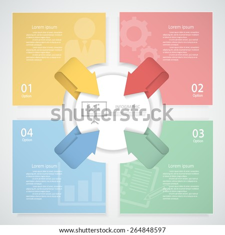Design clean template 4 steps Vector eps10. - stock vector