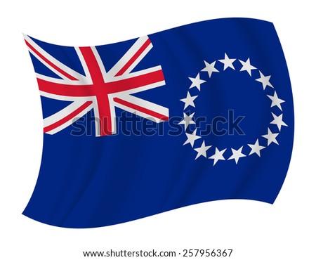 design Cook Islands flag waving vector - stock vector