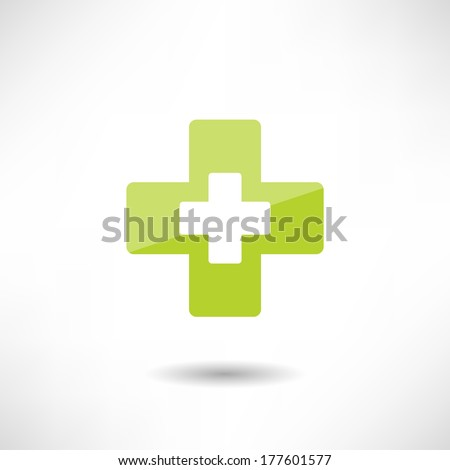 Design cross icon - stock vector